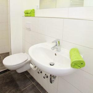 Clausthal I Bad mit Waschbecken und Toilette